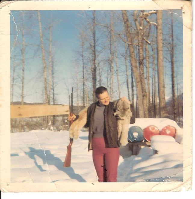 Mary Lovel and the lynx that tried to eat the dog - early 1970s